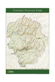 2006 Yosemite National Park Map Prints by  National Geographic Maps
