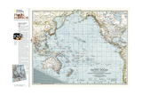 2001 Pacific Ocean Theater of War 1942 Map Prints by  National Geographic Maps