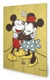 Mickey & Minnie Mouse - True Love Wood Sign Znak drewniany