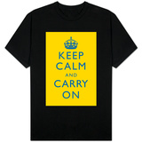 Keep Calm and Carry On (Bright Yellow) T-shirts