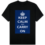 Keep Calm and Carry On (Dark Blue) T-shirts