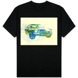 Chevy Camaro Watercolor T-shirts