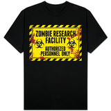 Zombie Research Facility Sign Shirts