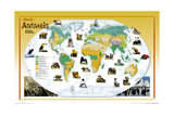 2004 World of Animals Map Posters