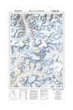 1999 Mount Everest/Himalayas Map Plakat af National Geographic Maps