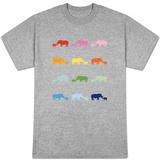 Rainbow Rhinos T-shirts