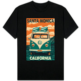 Santa Monica, California - VW Van Shirt