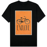 Explore Retro Bicycle T-Shirt