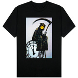 Smiley Face Grim Reaper Graffiti T-shirts