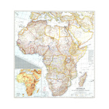 1943 Africa Map Posters by  National Geographic Maps