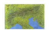 1985 The Alps Giclée-Premiumdruck von  National Geographic Maps