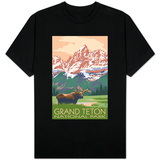 Grand Teton National Park - Moose and Mountains Shirt