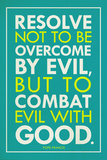 Combat Evil With Good Pope Francis Quote Religious Print