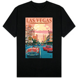 Las Vegas Old Strip Scene T-shirts