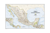 2008 Mexico and Central America Map Prints