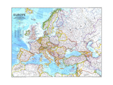 1992 Europe Art by  National Geographic Maps