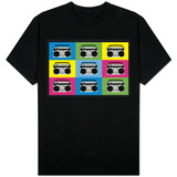 Boombox Stereos 2 Pop Art T-shirts