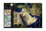 2002 Middle East, Crossroads of Faith and Conflict Prints by  National Geographic Maps