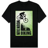 Mountain Biking Green T-Shirts