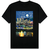 Los Angeles, California - Los Angeles at Night T-Shirt