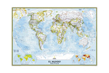 2005 World Classic Spanish Map Prints