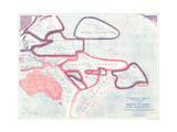 1921 Sovereignty and Mandate Boundary Lines of the Islands of the Pacific Prints by  National Geographic Maps