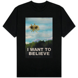 Flying Spaghetti Monster - I Want To Believe T-Shirt