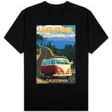 Lake Tahoe, California - VW Coastal Drive T-shirts