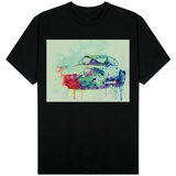 Porsche 911 Watercolor 2 T-shirts