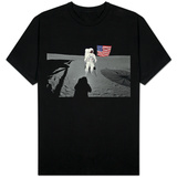 NASA Astronaut Spacewalk Moon Photo T-Shirt