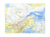 1991 Quebec Map Prints by  National Geographic Maps