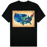 Usa Watercolor Map 3 T-shirts