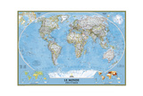 2012 World French Map Prints by  National Geographic Maps