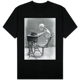Skeleton Reading at Desk T-Shirt