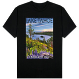 Lake Tahoe, California - Emerald Bay T-shirts