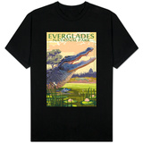 The Everglades National Park, Florida - Alligator Scene Shirts