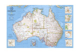 2000 Australia Map Posters by  National Geographic Maps