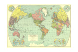 1932 World Map Prints