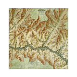 1999 Heart of the Grand Canyon Map Prints