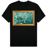Van Gogh Almond Branches with Gilded Faux Frame Border T-Shirt