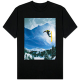 Snowboarder Performing Jump T-shirts