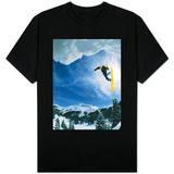 Snowboarder Performing Jump T-Shirt
