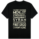 Wine Grape Types T-shirts