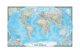 2004 World Prints by  National Geographic Maps