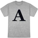 Black A T-Shirt