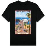 Santa Barbara, California - Stern's Wharf T-Shirt