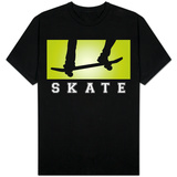 Skateboarding Green T-shirts
