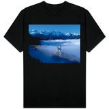 Neuschwanstein Castle Surrounded in Fog Shirt