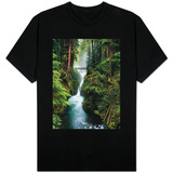 Sol Duc Falls Cascading Through Rainforest T-Shirt
