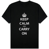 Keep Calm and Carry On (Black) Shirts